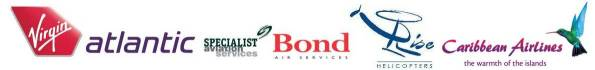 Virgin Atlantic - Specialist Aviation Services - Bond Air Services - Rise Helicopters